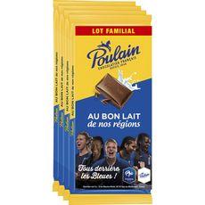 Poulain chocolat au lait 4x95g