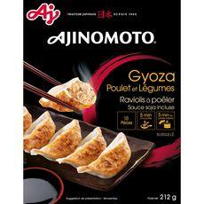 AJINOMOTO Ajinomoto Raviolis au poulet et légumes 212g 10 pièces 212g