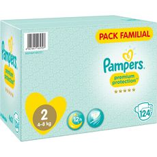 Pampers premium protection family pack x124 taille2