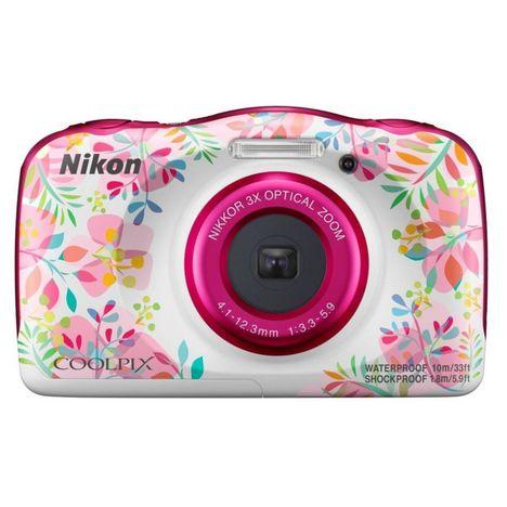 NIKON Appareil photo compact étanche Coolpix W150 Flowers + Sac à dos