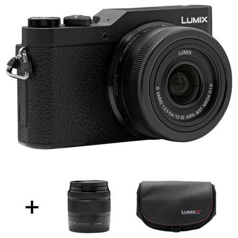 PANASONIC Appareil photo hybride - LUMIX GX800 - Noir - Objectif 12-32 mm - Objectif 35-100 mm - Sacoche