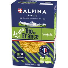 ALPINA Alpina Savoie Farfalle bio sans résidu de pesticides 500g 500g