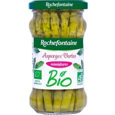 ROCHEFONTAINE Asperges vertes miniatures bio, en bocal 190g