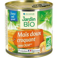 JARDIN BIO ETIC Mais doux croquant sans sel ajouté 300g