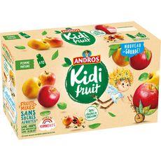 Andros Kidifruit gourdes pomme nature sans sucres ajoutés 10x85g