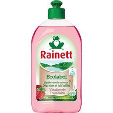 RAINETT Liquide vaisselle écologique dégraissant vinaigre de framboise 500ml