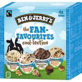 Ben & Jerry's the fan-favourites cool-lection 4x100ml