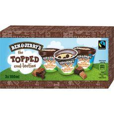 BEN ET JERRY'S Ben&Jerry's glace topped caramel brownie x3 3 mini pots 210g