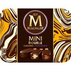 MAGNUM Magnum glace double chocolat caramel mini bâtonnet x8 -400g