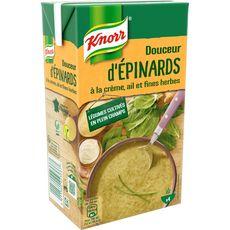 Knorr soupe liquide épinards crème ail fines herbes 1l