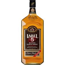 Label 5 Scotch whisky classic black 40% 1l