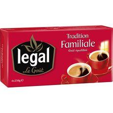 LEGAL Legal Café moulu tradition familiale 4x250g 4x250g