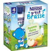 Nestlé ptit brassé lacté pomme poire gourde 4x90g dès6mois