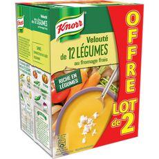 Knorr soupe aux 12 légumes fromage frais 2x1l promo