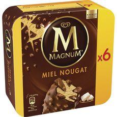 MAGNUM Magnum Batônnet glacé au miel et nougat 474g 6 batônnets 474g