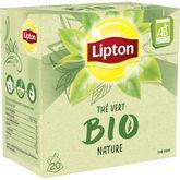 Lipton thé vert nature bio sachet x20 -28g