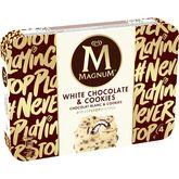 Magnum chocolat blanc cookies x4 -296g
