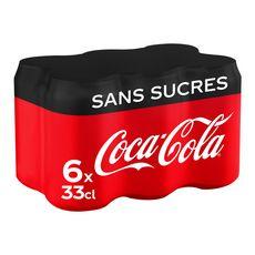 Coca-Cola zéro canette 6x33cl