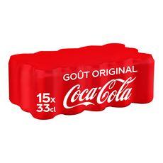 Coca cola Boisson gazeuse aux extraits végétaux original boîtes 15x33cl