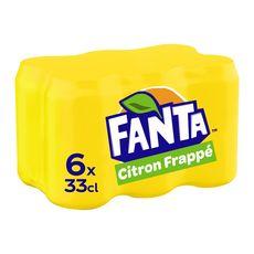 FANTA Fanta Boisson gazeuse citron frappé avec sucre et édulcorant boîte 6x33cl 6x33cl