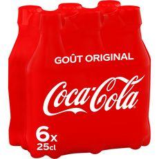 Coca cola Boisson gazeuse aux extraits végétaux original bouteilles 6x25cl