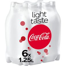 COCA-COLA Boisson gazeuse aux extraits végétaux light 6x1,25l