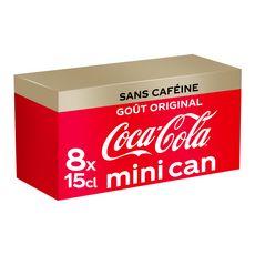 Coca-Cola sans caféine mini frigopack canette 8x15cl