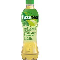 FUZE TEA Thé vert glacé saveur citron vert et menthe 1,25l