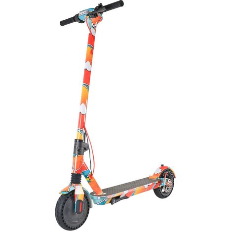 GYROBOARDER Trottinette électrique Pliable M11 LTD ED Cartoon Orange Jaune Bleu