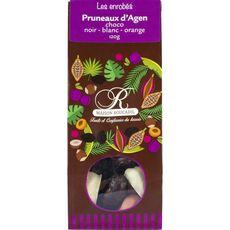 Roucadil pruneau chocolat noir blanc 120g