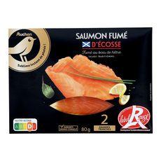 Auchan Gourmet saumon fumé d'Ecosse x2 - 80g
