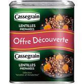 Cassegrain lentilles cuisinées aux oignons carottes 2x265g