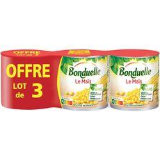 Bonduelle maïs sans résidu de pesticide 3x140g