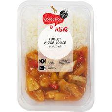 poulet sauce aigre douce et riz thaï 350g
