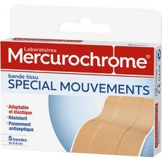 Mercurochrome bande tissus spécial mouvements 6x5cm -x10