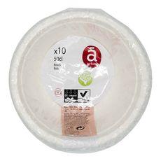 ACTUEL Actuel Bols en carton blanc compostables 50cl x10 10 pièces