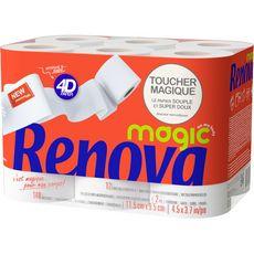 Renova papier toilette décoré 4D magic rouleau x12