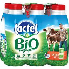 Lactel lait entier bio 6x1l