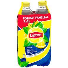 Lipton Boisson à base de thé saveur citron citron vert 2x2l