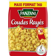 PANZANI Coudes rayés filière blé responsable français 1kg
