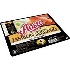 Aoste jambon cru Serrano dégraissé grande tranche x4 -100g