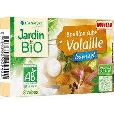 JARDIN BIO ETIC Bouillon cube de volaille sans sel ni huile de palme 10 cubes