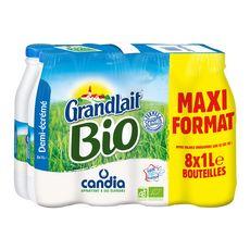 Grandlait lait demi écrémé bio 8x1l bon plan