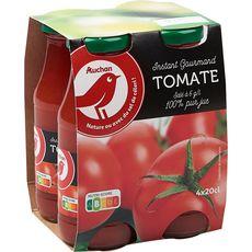 AUCHAN Pur jus de tomate bouteilles 4X20cl