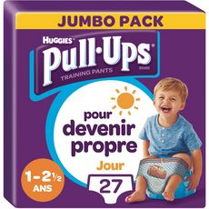 Huggies Pull-ups culottes apprentissage garçon taille 4 (8-17kg) x27