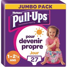 Huggies Pull-ups culottes d'apprentissage fille taille 4 (8-17kg) x27