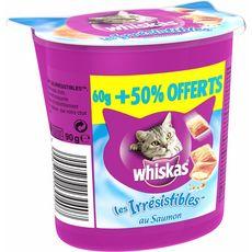 Whiskas les irrésistibles saumon 60g +50% offert