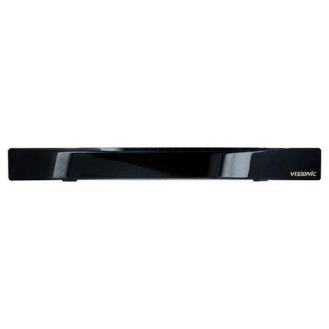 VISIONIC Antenne intérieure amplifiée LCD FM - VHF / UHF TNT HD Cordon coaxial + Alimentation Noir