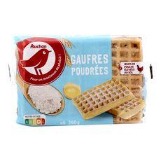 AUCHAN Auchan Gaufres poudrées 6 gaufres 260g 6 gaufres 260g