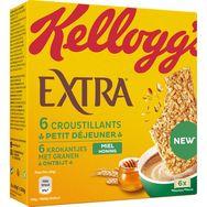 Kellogg's Extra Croustillants barres de céréales au miel 6 barres 240g